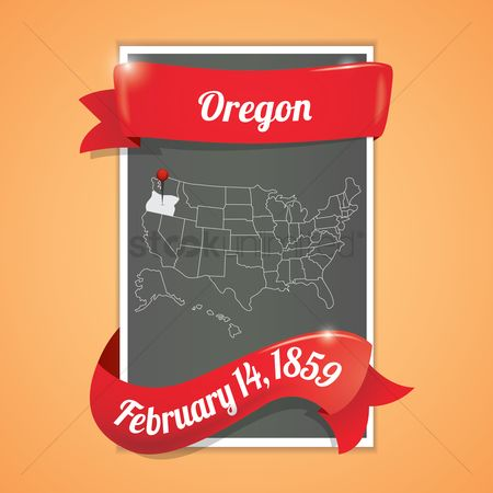 Oregon : Oregon state map poster