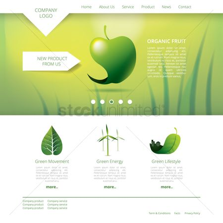 Graphic : Organic fruit website template