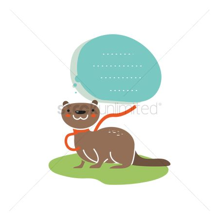 Talking : Otter with copyspace icon