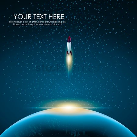 Lorem ipsum : Outer space background