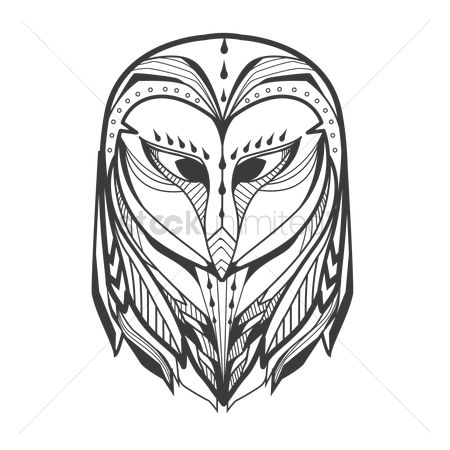 Owl : Owl monochrome design