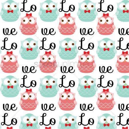 Love : Owl pattern