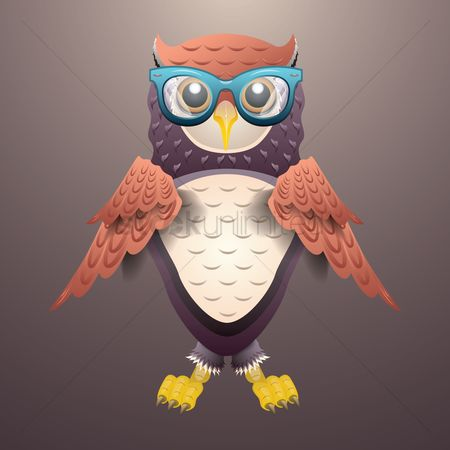 Claws : Owl wearing spectacles