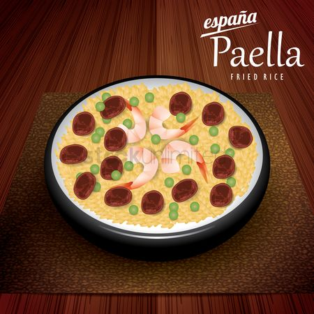 Main : Paella fried rice