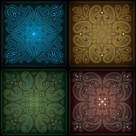Vintage background : Paisley background collection