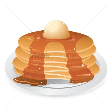 Hotcake : Pancakes with maple syrup
