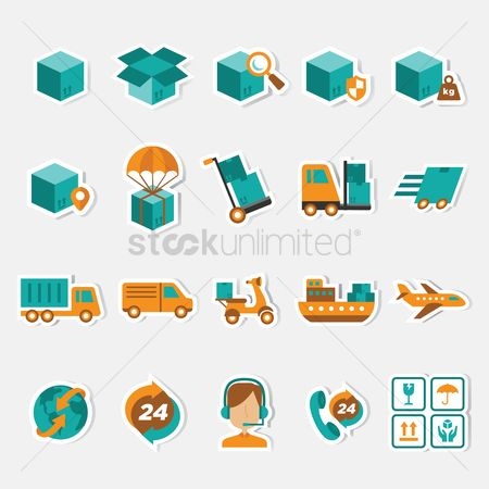 Executive : Parcel delivery icons