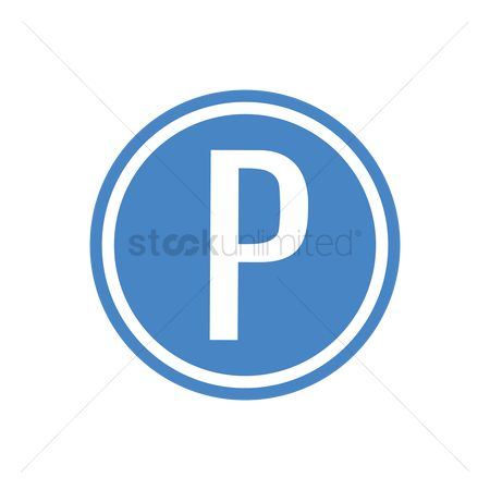 Attention : Parking place road sign