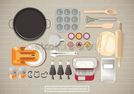 Biscuit : Pastry chef workdesk