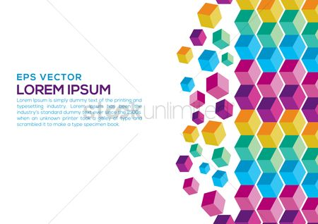 Geometric background : Patterned background with text space