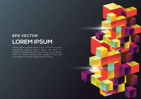 Geometrics : Patterned background with text space