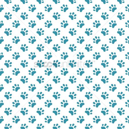 Decors : Patterned paw print background
