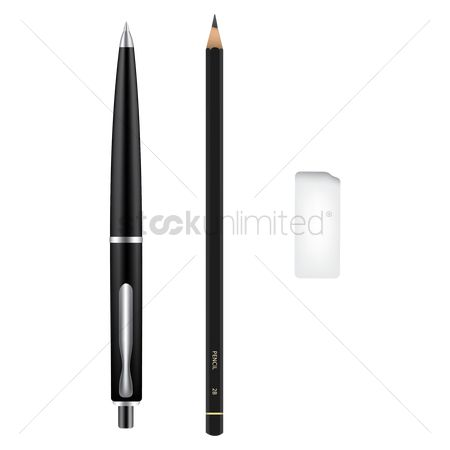 Nib : Pen with pencil and eraser