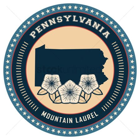 Mountain laurel : Pennsylvania state label