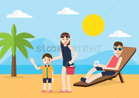 Recreation : People enjoying on beach