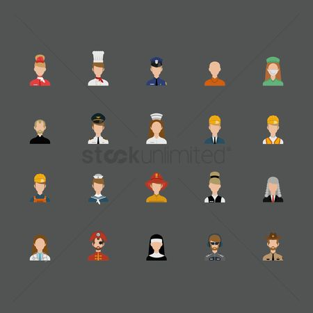 Priest : People icon set