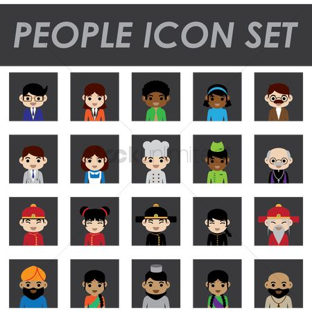 Chef : People icons set