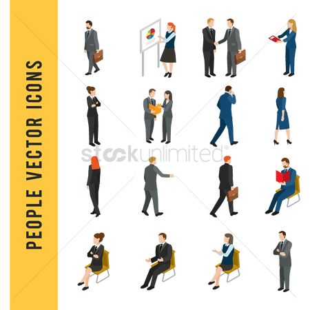 Workers : People vector icons