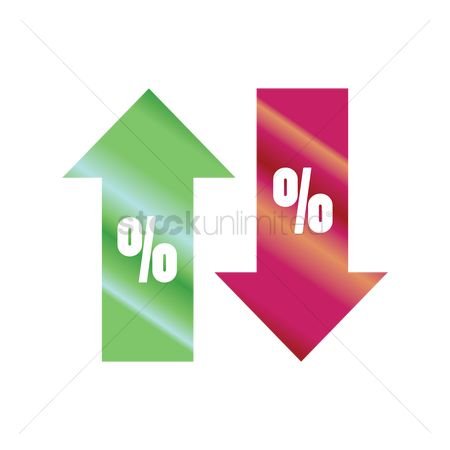 Increase : Percentage symbol with up and down arrow