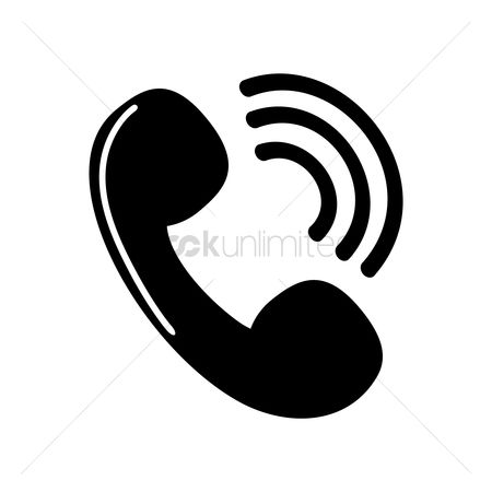 Calling : Phone receiver icon