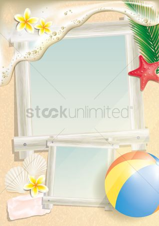 Starfishes : Photo frames on beach
