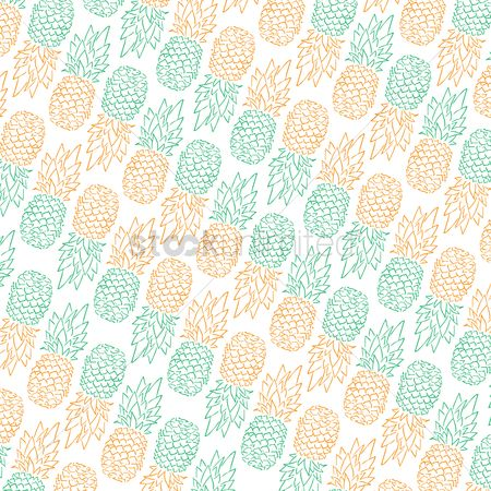 Pineapple : Pineapple design background