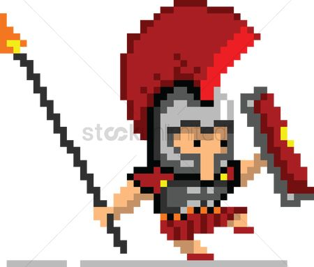 Soldiers : Pixel art gaming character