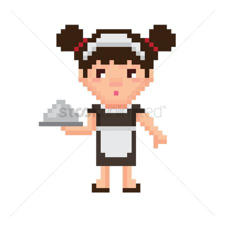 Servings : Pixel art maid