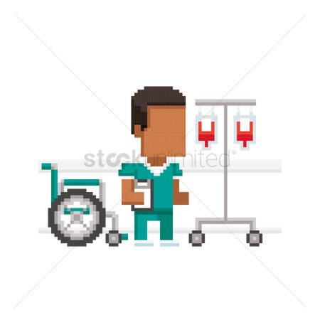 Staffs : Pixel art medical practitioner