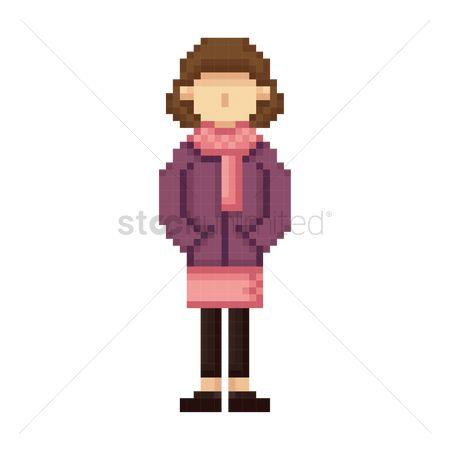 Skirt : Pixel art woman fashion