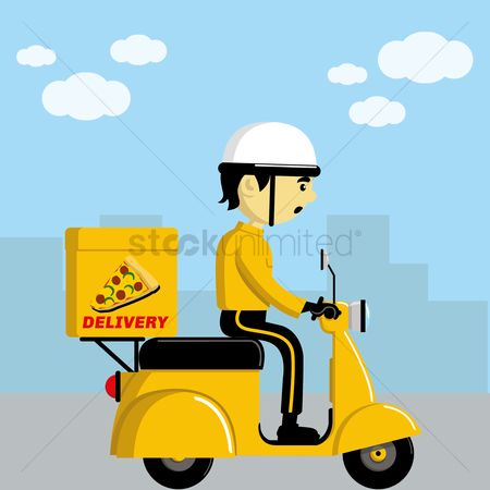 Scooters : Pizza delivery