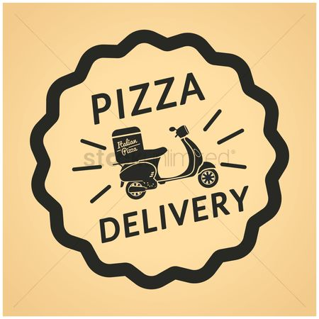 Scooters : Pizza dilevery label