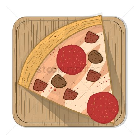 Snack : Pizza slice with pan