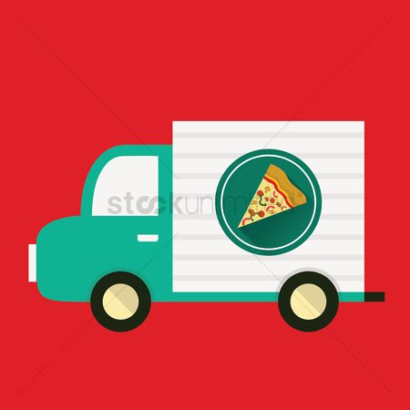 Pizza delivery : Pizza van