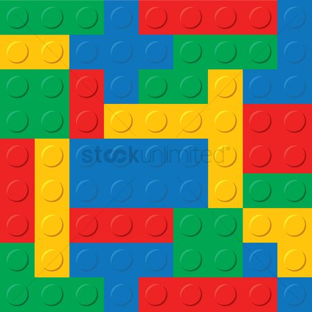 Blocks : Plastic construction blocks background