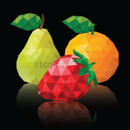 Trendy : Polygon fruits wallpaper
