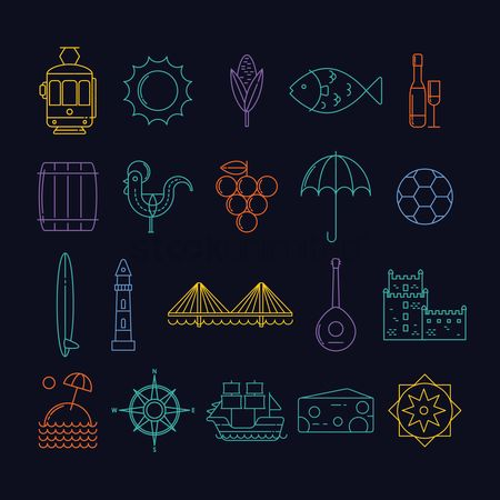 Lighthouses : Portugal general icons