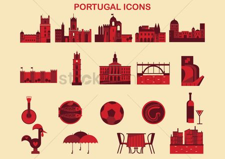 Monuments : Portugal icons