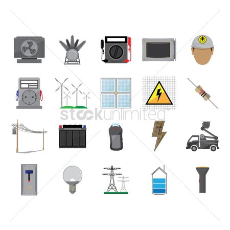 Fire extinguisher : Power supply icons