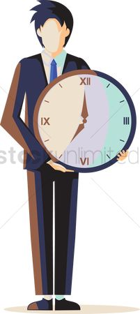 Managers : Professional holding a clock
