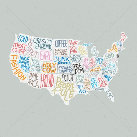 Junk food : Quotes in american map