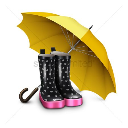 Shield : Rain boots with umbrella