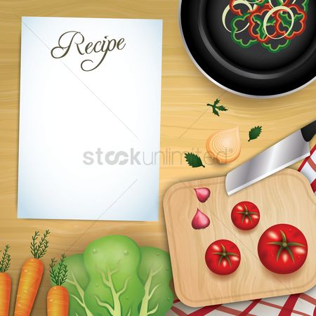 Cook : Recipe with ingredients design
