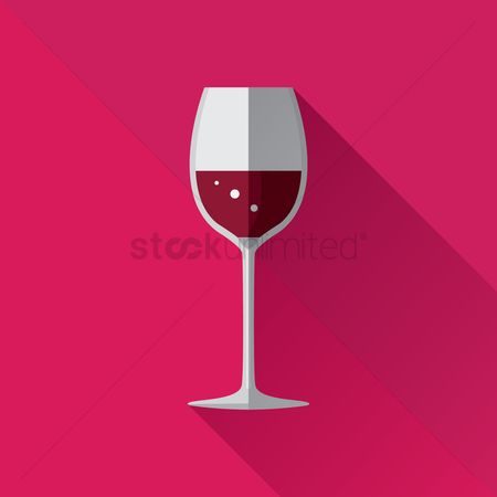 Red wines : Red wine glass