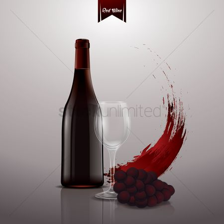 Copy spaces : Red wine poster