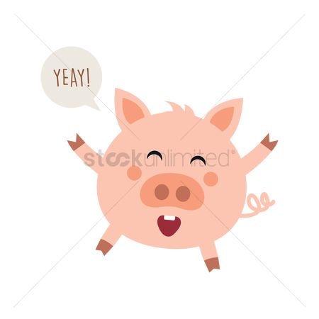 Cheering : Rejoicing pig