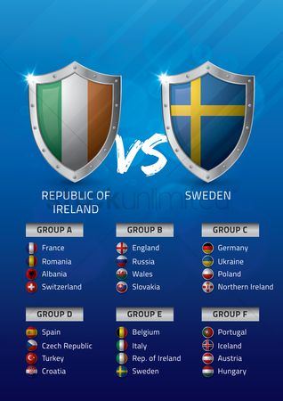 Ukraine : Republic of ireland vs sweden