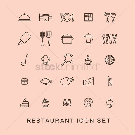 Doughnut : Restaurant icon set