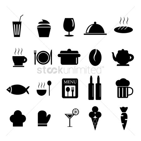 French : Restaurant icon set