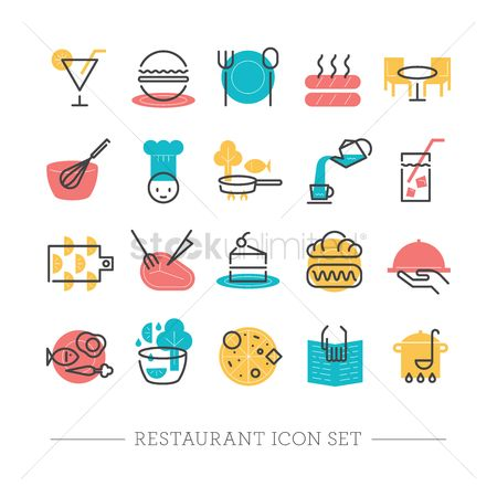 Confectionery : Restaurant icons